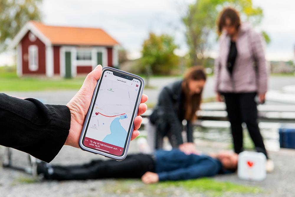 Sms-livräddare - Pressbild