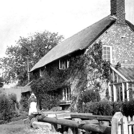 Rose Cottage in Wootton Fitzpaine, pictured in the 1930s