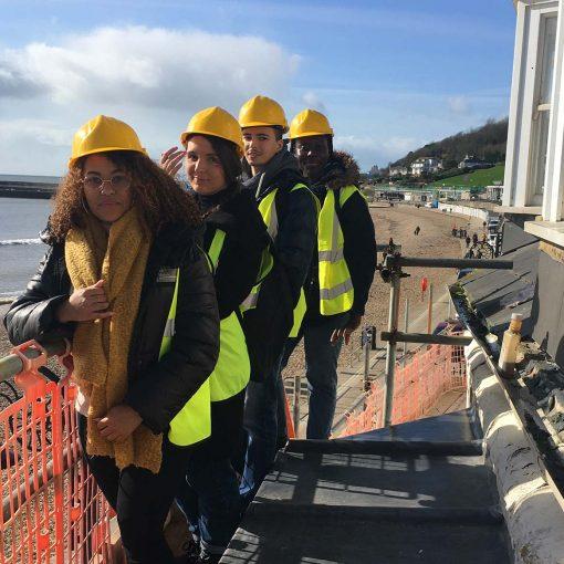 UWE Architecture & Planning students in Lyme Regis