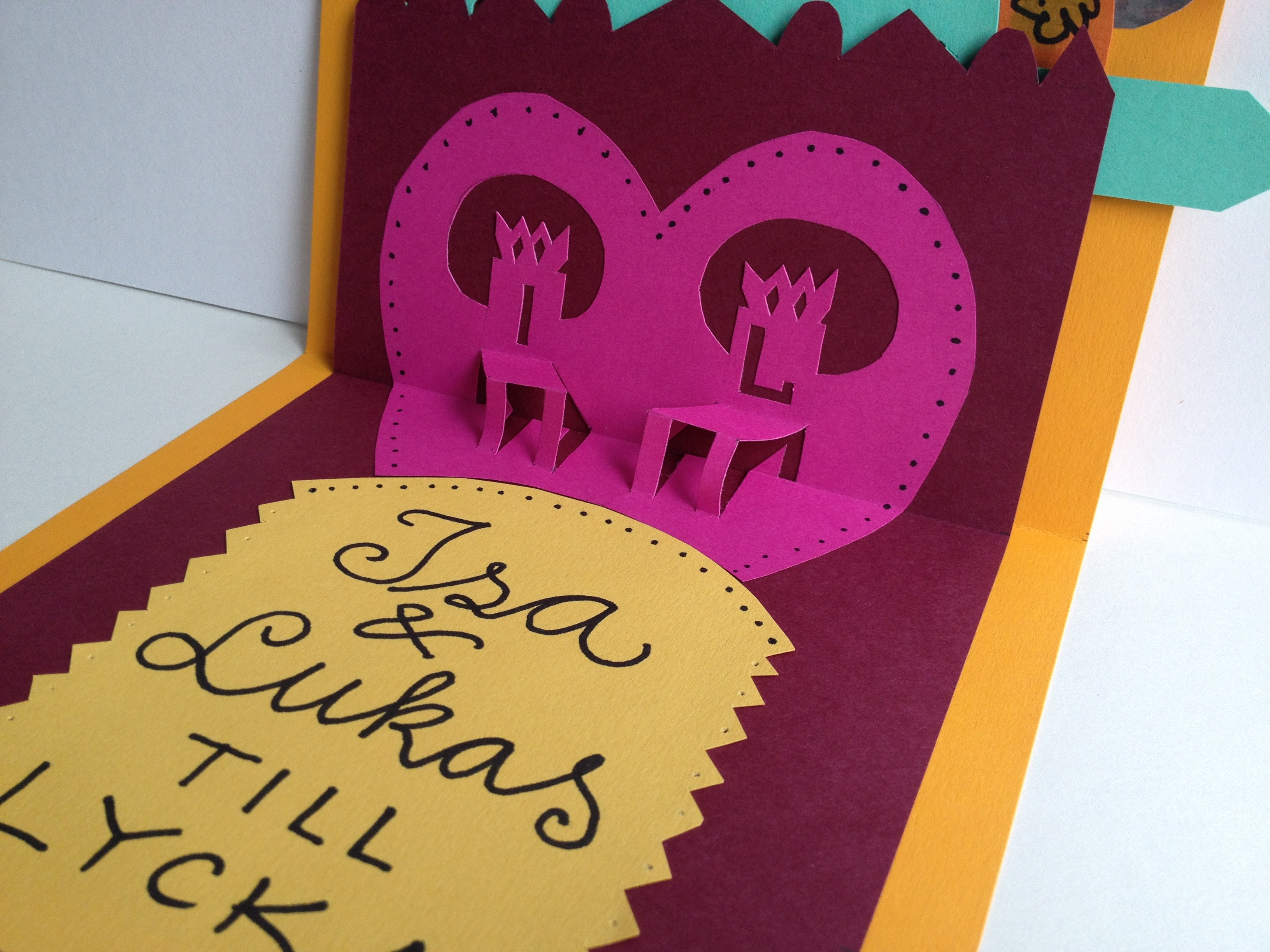 2014 Bröllopskort  pop-up