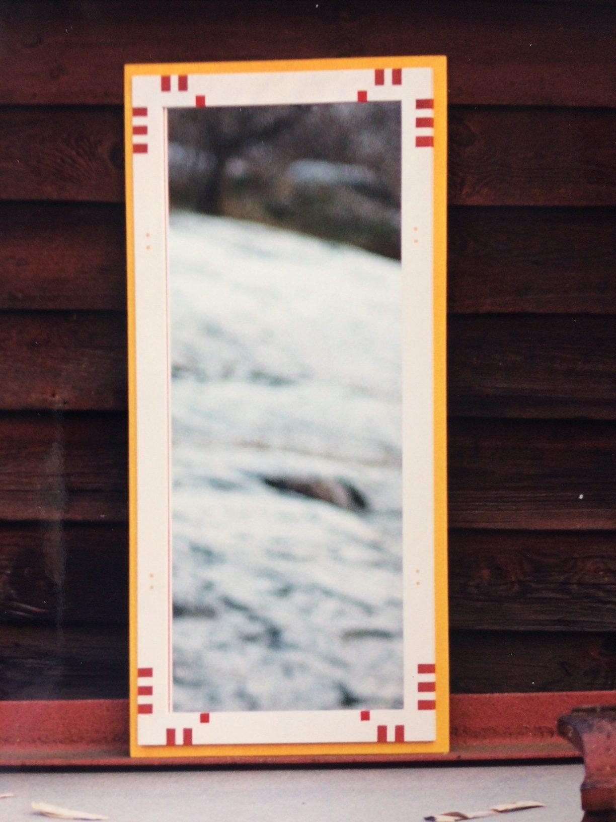 1993 Spegel med målat mönster