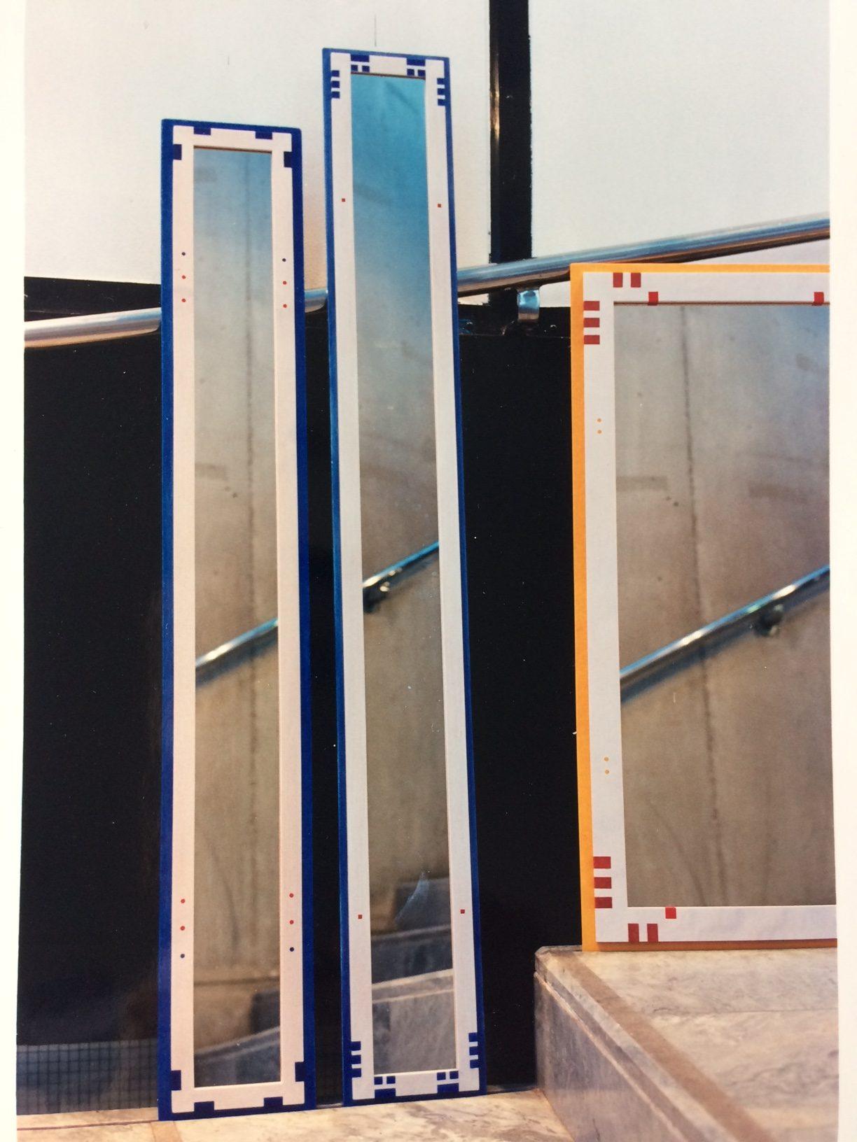 1993 Speglar med målat mönster