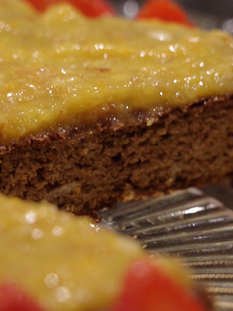 Orange and mango cake