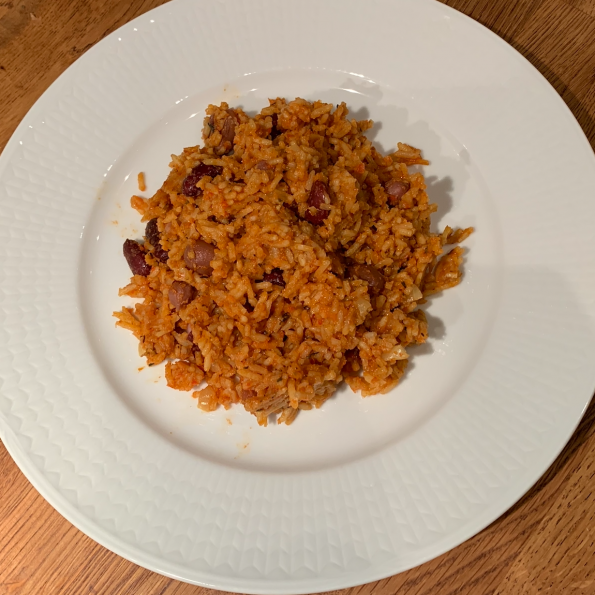 West african rice with beans