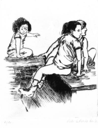 Trois filles au parc