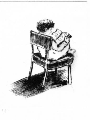 Petit garçon qui lit