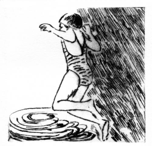 pointe sèche plongeon