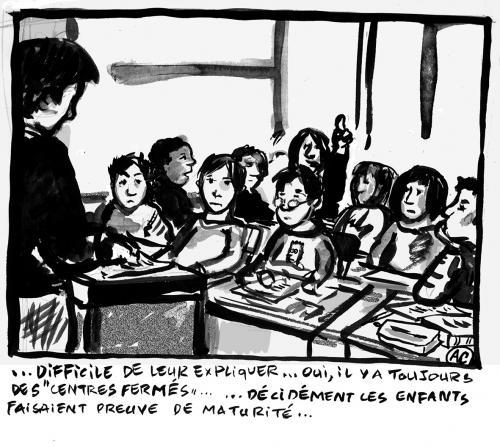 Enfants dans les centres fermés