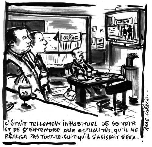Grève et télé