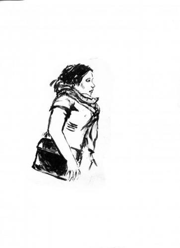 Passants - femme au sac