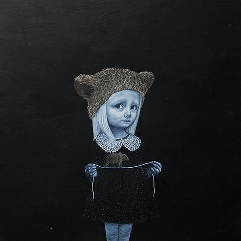 """""""Balancegang"""" - Anne Juul Christophersen - akryl på lærred - 100 x 100 cm"""