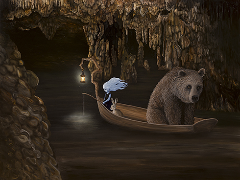 """Drømmefisker"" Akryl på lærred 150 x 200cm"