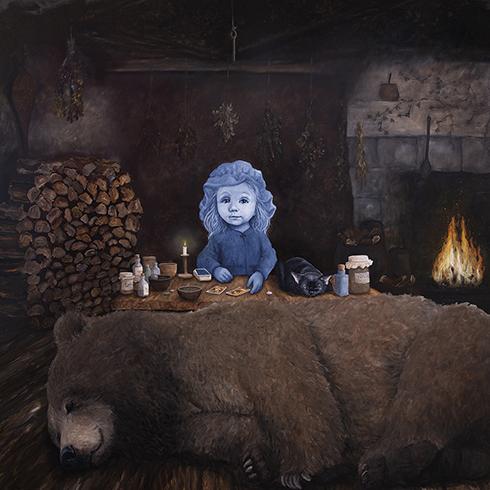 """Vinterhi"" Akryl på lærred 150 x 150 cm"