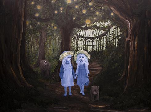 """""""Transformation"""" Akryl på lærred 150 x 200 cm"""