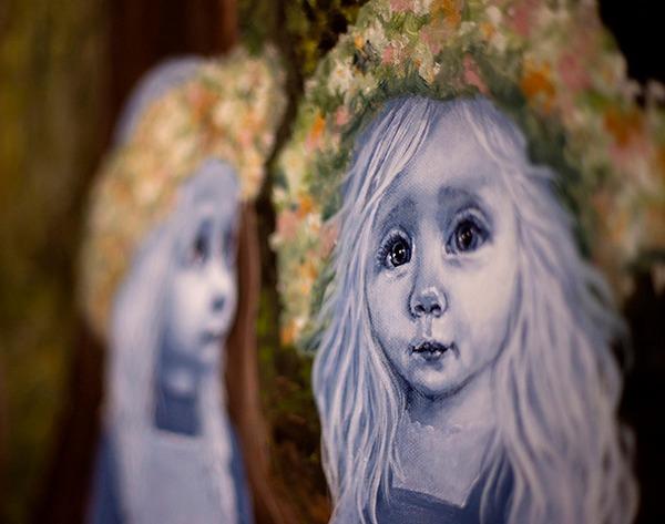 """""""Transformation"""" udsnit akryl på lærred - 150 x 250 cm"""