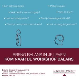workshop BALANS