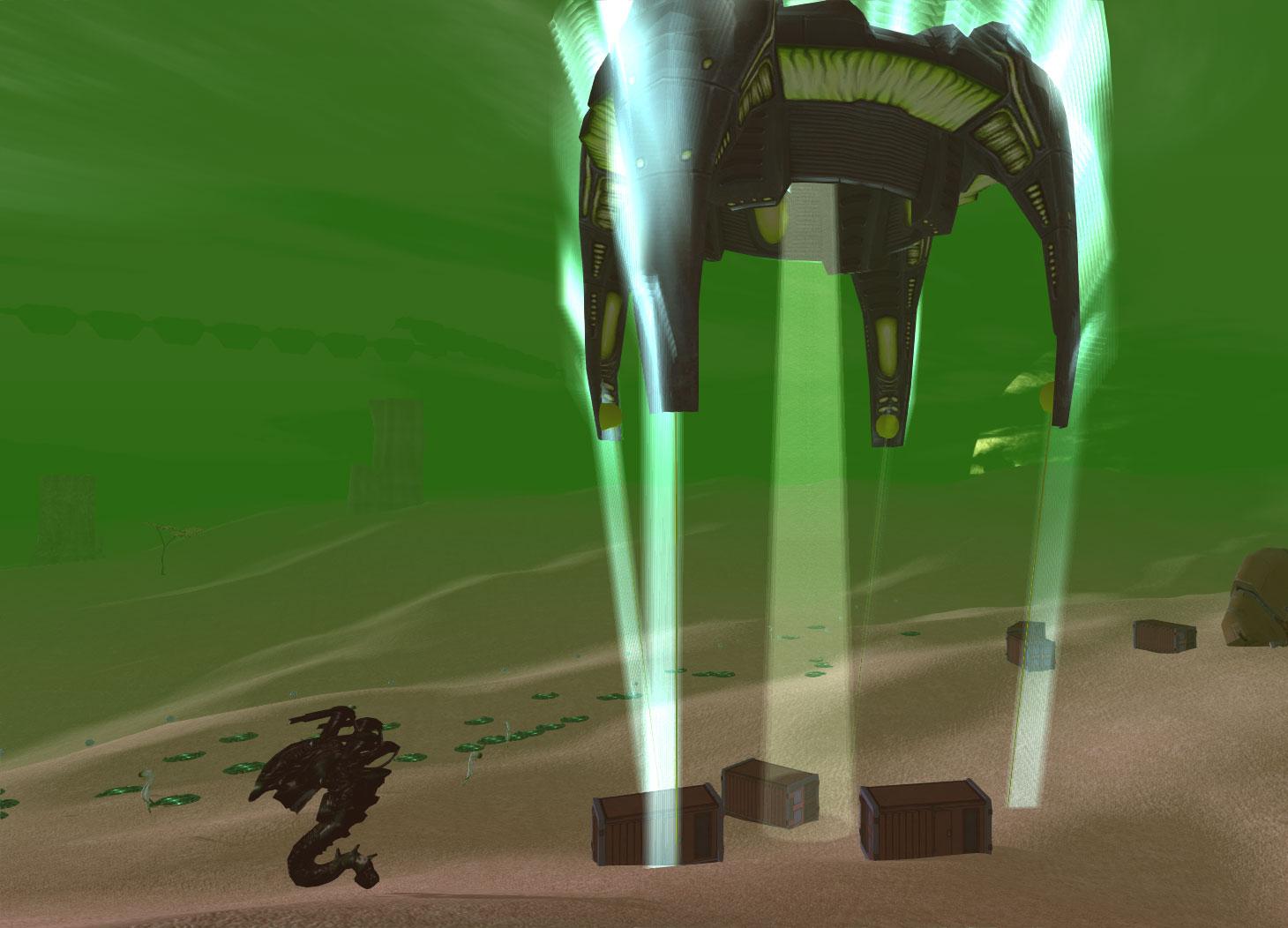 Alien-Dropship-landing-cargo