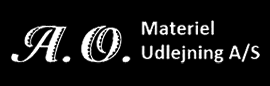 A. O. Materiel Udlejning A/S Logo