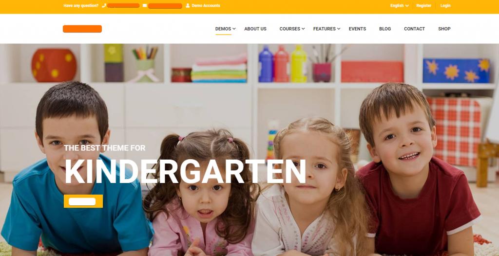Thailand Web Design Website Kindergarten & Children Doctor