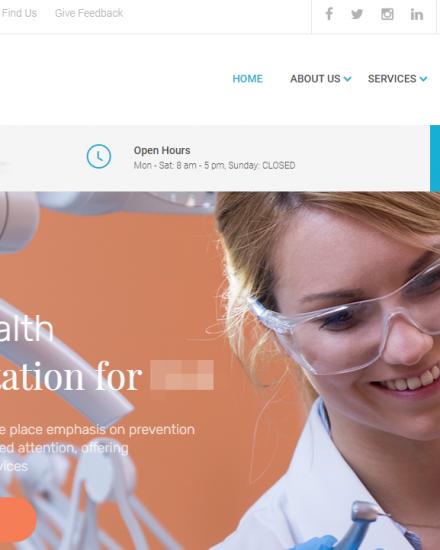 Webseiten fuer Zahnaerzte Kliniken Kieferorthopaeden
