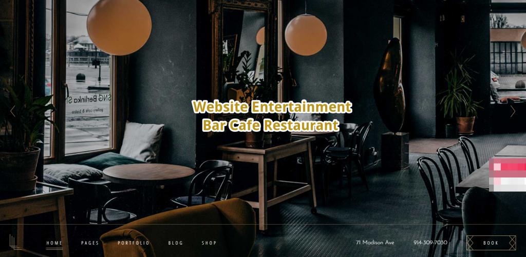 Webseiten fuer Cafe Bar Restaurant