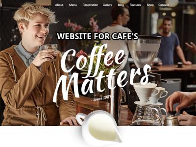 Webseiten fuer Cafes Bars Restaurants