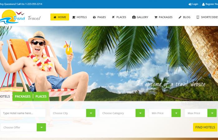 Webseite fuer Reisebueros und Reiseveranstalter