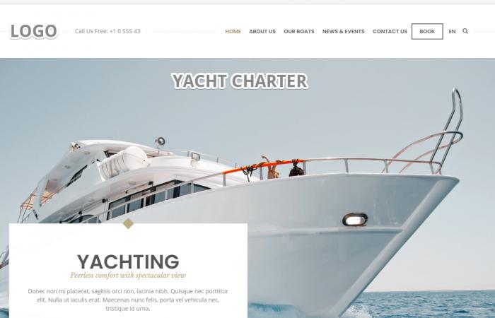 Onepage Webseite fuer Boote & Yachten