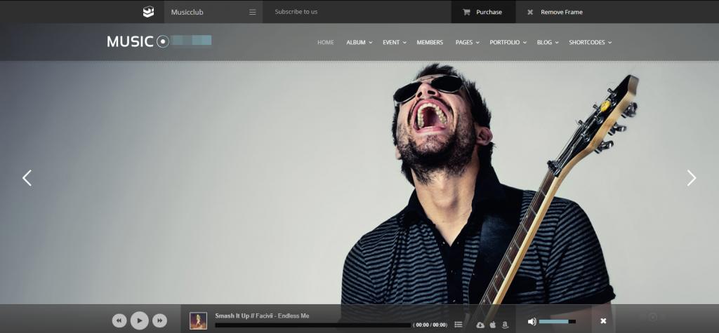 Webseite fuer Musiker Musikproduzenten Musikgruppen