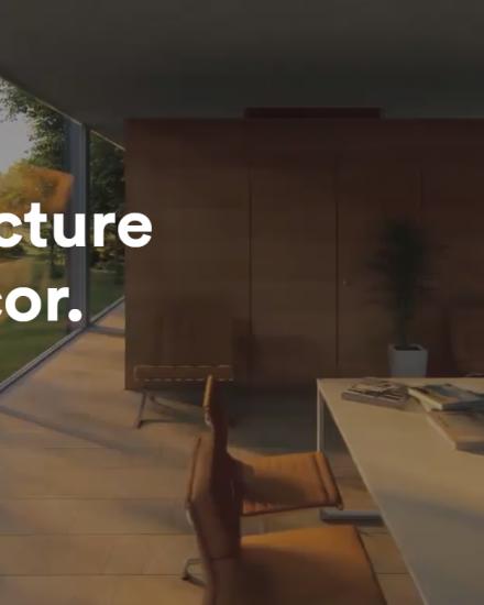 Onepage Webseite fuer Architekten und Innenarchitekten