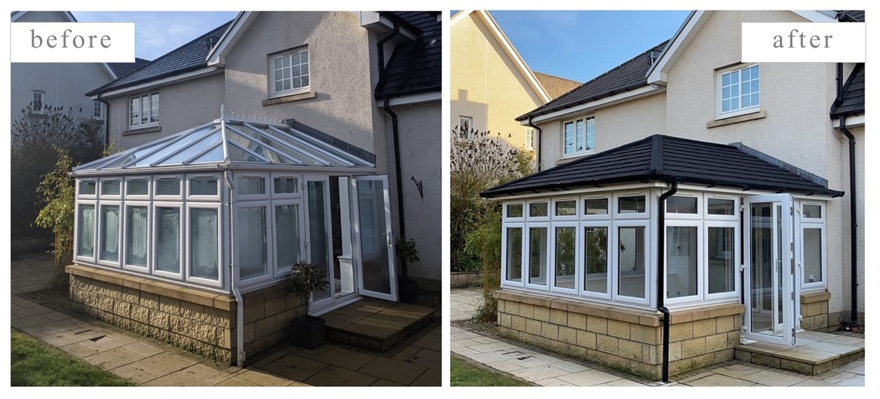 Conservatory Before and After