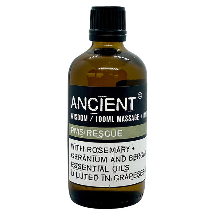 PMS massage- og badeolie fra Ancient Wisdom - PMS REscue