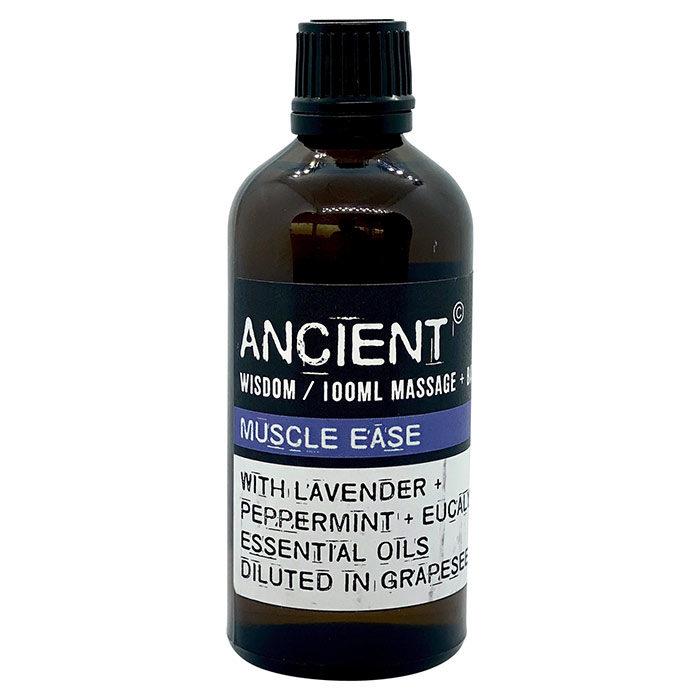 Ømme muskler massage- og badeolie fra Ancient Wisdom