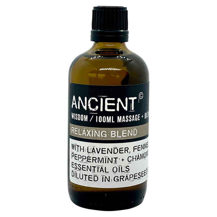 Relax massage- og badeolie fra Ancient Wisdom