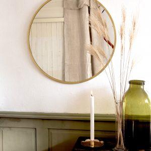 Mirror round brass handmade wall