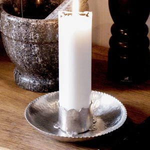 Pearl candleholder pewter handmade
