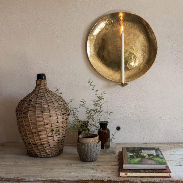 Raw wallsconce brass interior decoration