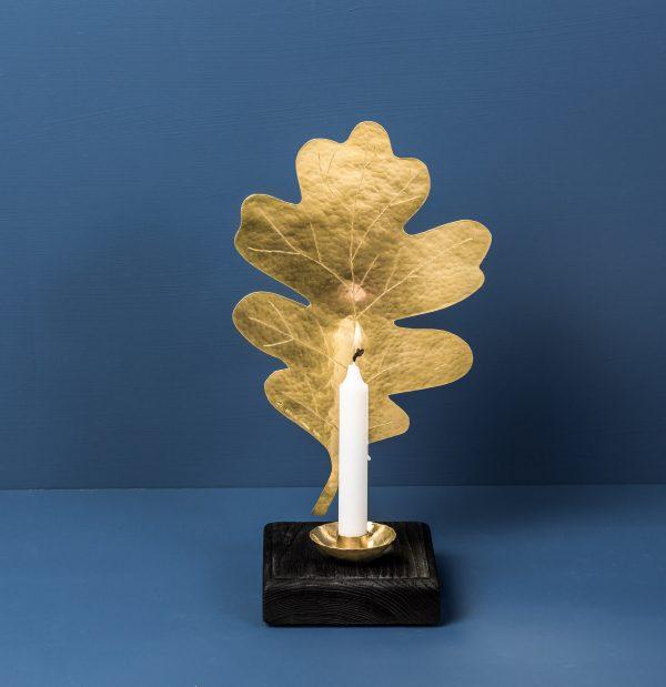 oak-leafsconce-brass-black-malinappelgren