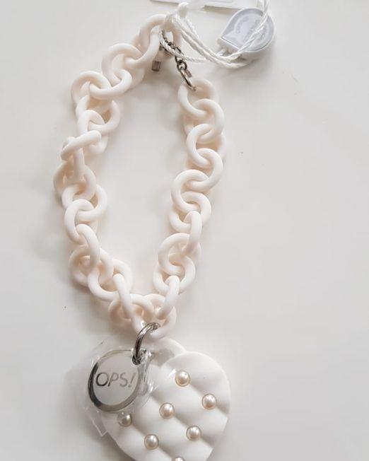 OPS!OBJECT Armband weiß mit Perlen