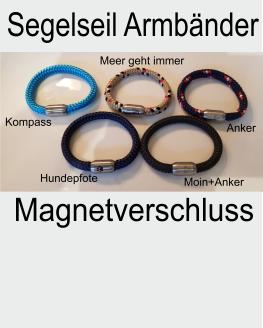Segelseil Armband aus 8 mm Segelseil mit Magnet-Verschluss