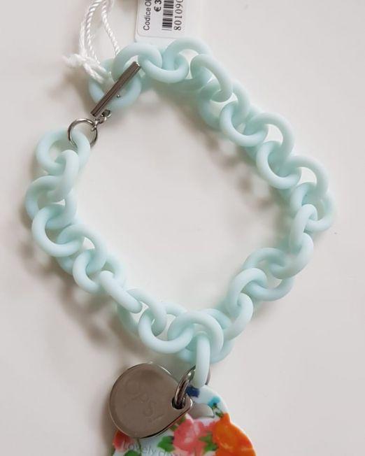 OPS!OBJECT Armband Hellblau mit Herz