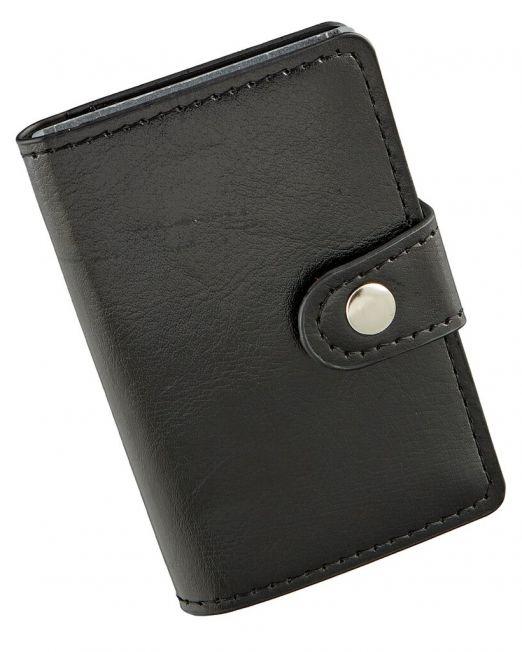 Kreditkartenetui aus Kunstleder Mini Portmonee RFID für 12 Karten