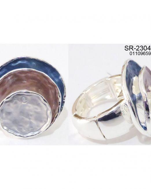 Elastischer Zugring Ring rhodiniert,  elastisch, nickel-cadmium-bleifrei, antiallergisch