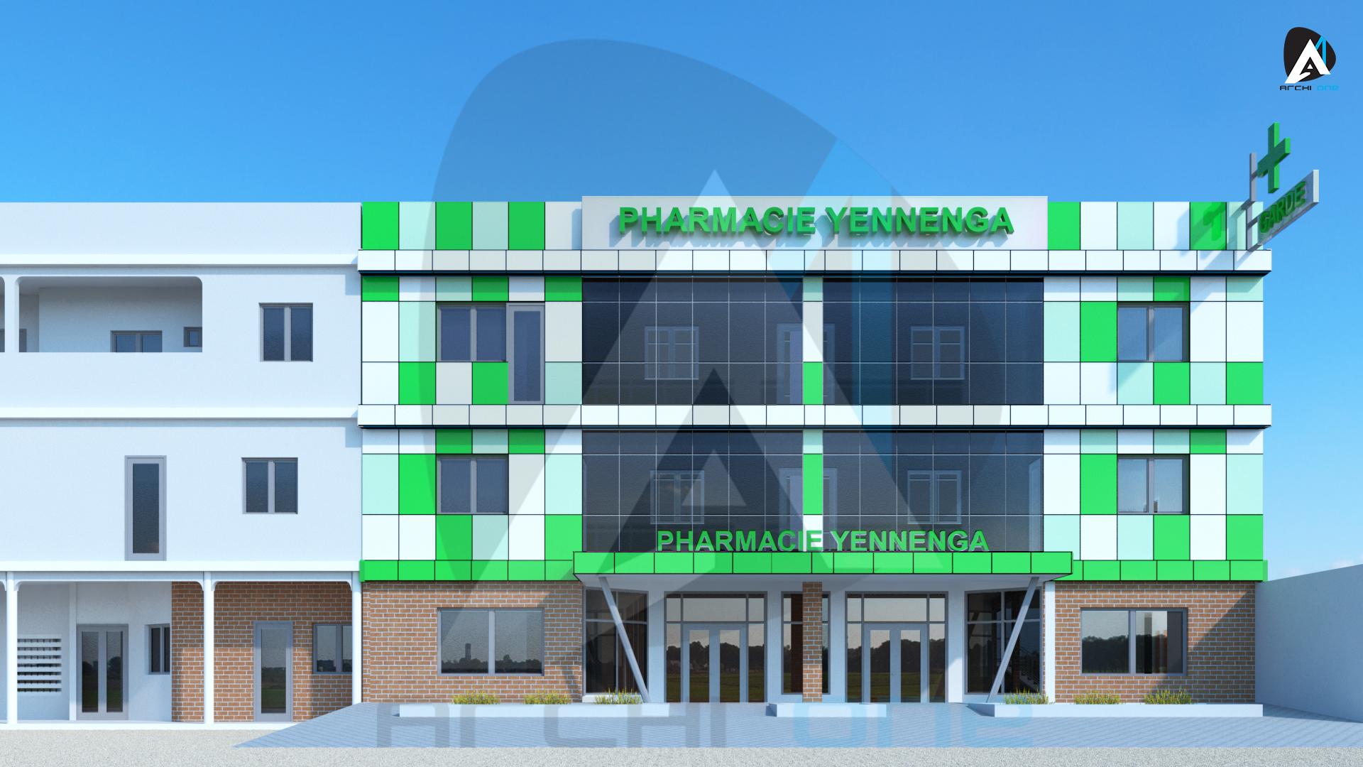 Ravalement facade pharmacie