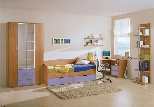 Dormitorio tabla clara