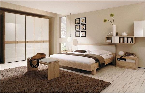 Dormitorio tarima de pino