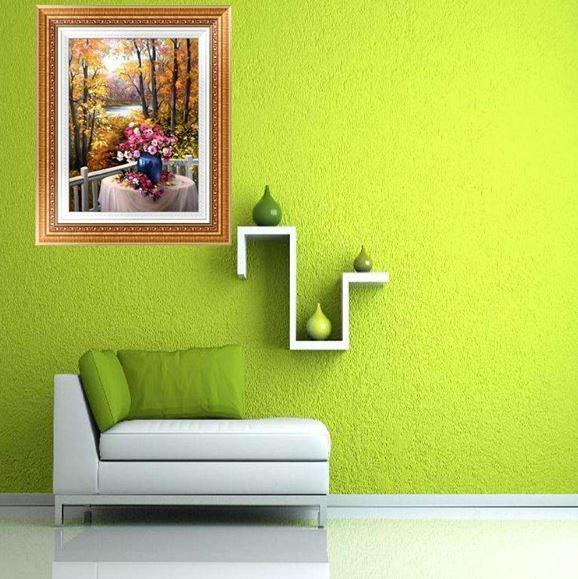 Pintores: Rincón en gotelé color verde