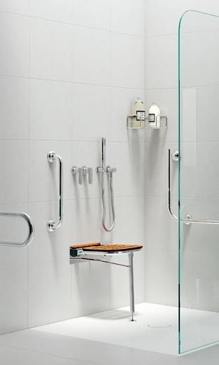 Plato de ducha con asiento moderno