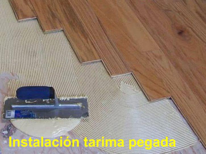Arcolinea: pegado de tarima flotante laminada