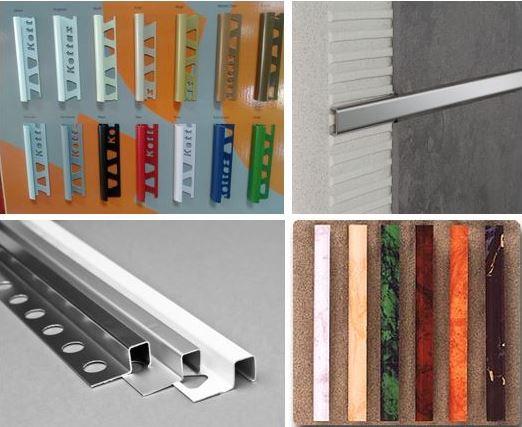 Solados y alicataos, imagen de listelos metálicos y de PVC